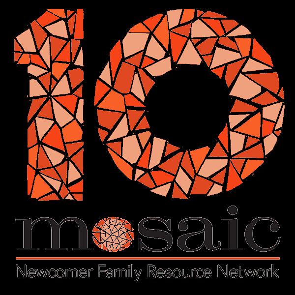 Mosaic's ten year aniiversary logo.
