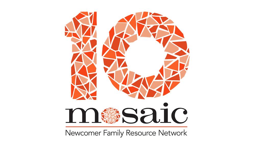 Mosaic's 10 year anniversary logo.